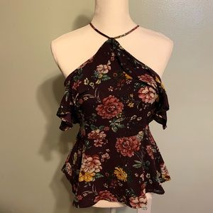 Plum Floral Top - Fall Ready!